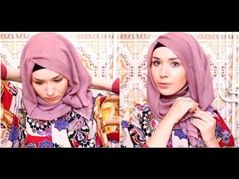 Tutorial Hijab Paris Segi Empat Ala Nabiilabee Hijabers Asal Rusia ...